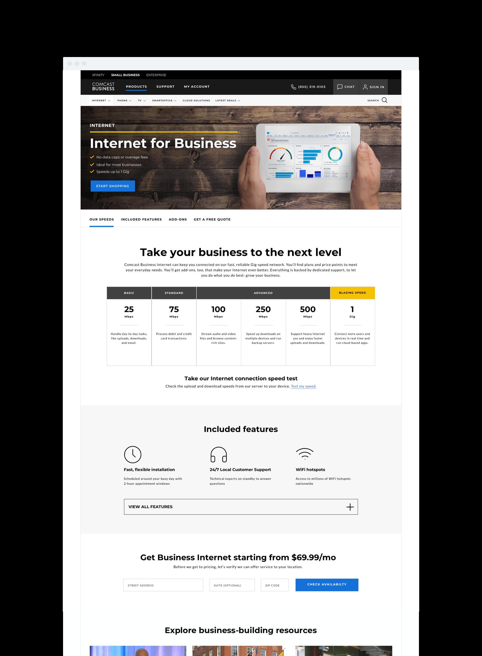 Comcast Business Business Internet
