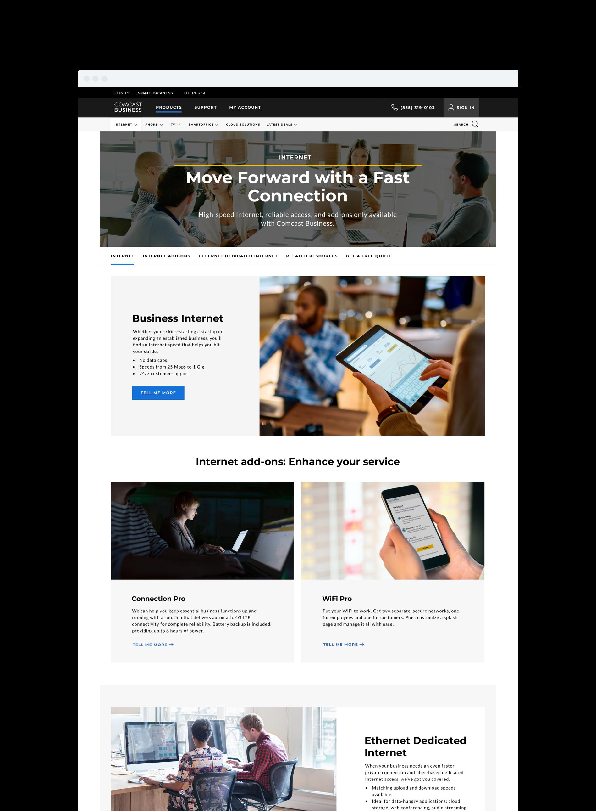 Comcast Business - Internet LOB