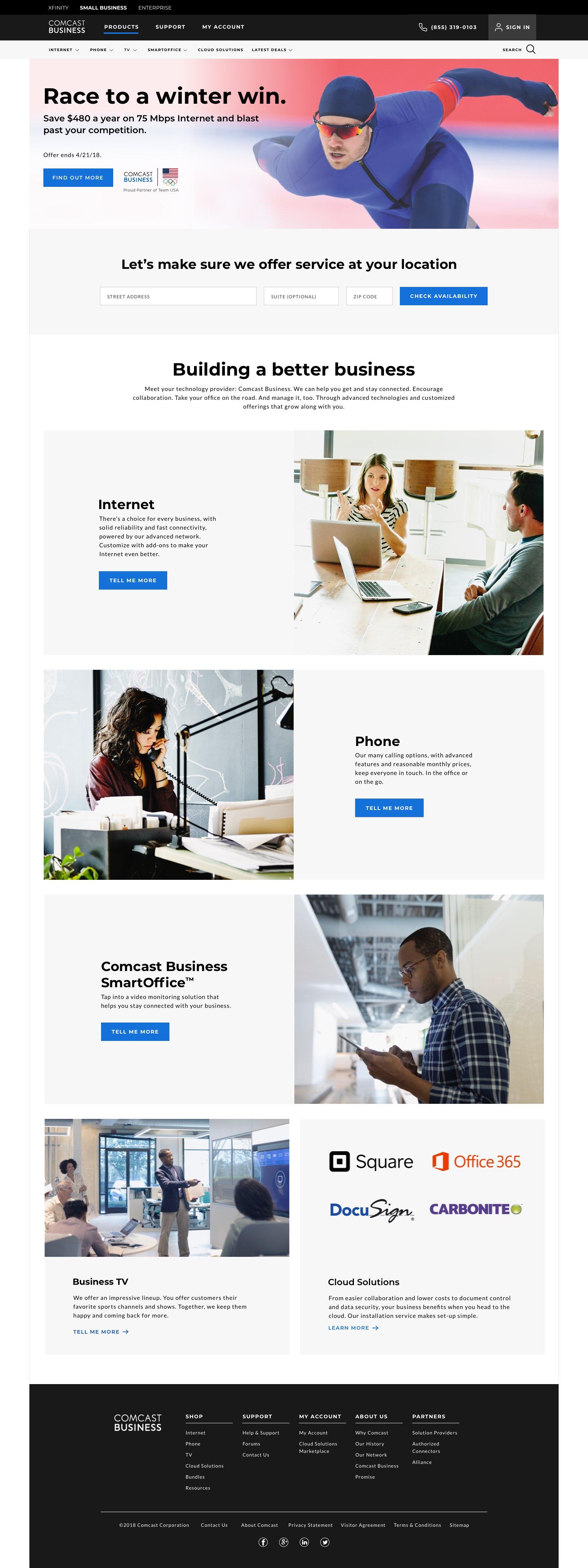 SMB Homepage - Campaign